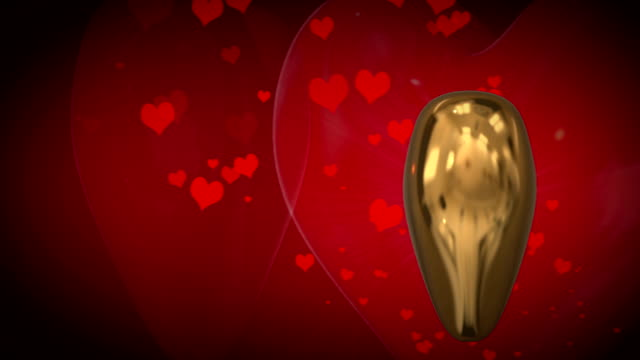 motion graphic of revolving 3d gold heart - adobe after effects stock videos and b-roll footage