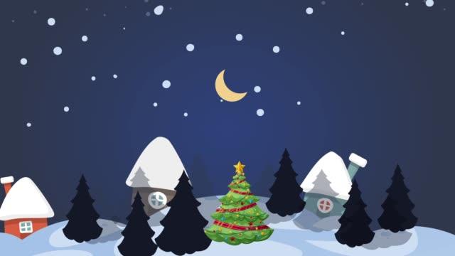 vídeos y material grabado en eventos de stock de gráfico de movimiento con fondo de feliz año nuevo y navidad - carta naipe