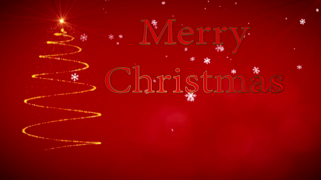 motion graphic with the message merry christmas - adobe after effects stock videos and b-roll footage