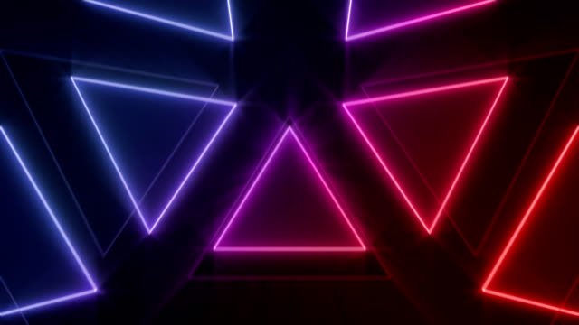 motion graphics geometry loop - neon colored stock videos & royalty-free footage