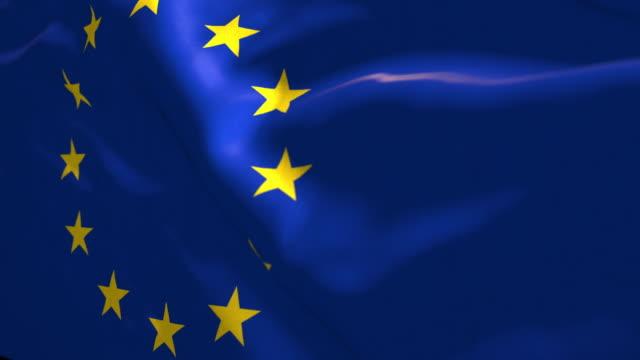 4k uhd motion graphics waving flags series - european union stock videos & royalty-free footage