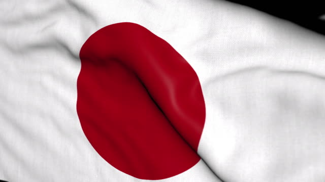 4k uhd motion graphics waving flags series - japan stock videos & royalty-free footage