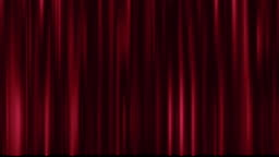 Motion of theatre red curtain