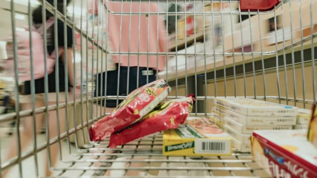 Motion Shopping in a supermarket.