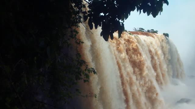 Motion shot of waterfalls at Iguazu falls