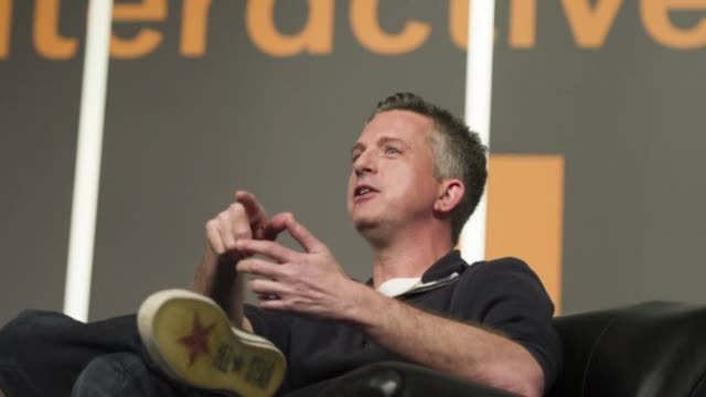 Motion Still photo montage of editor in chief of Grantlandcom Bill Simmons speaking at the South By Southwest Interactive Festival in Austin Texas US