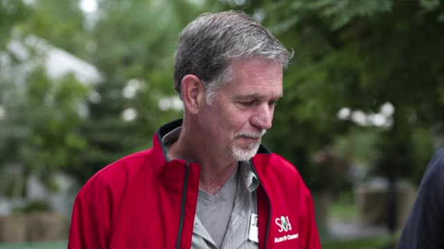 Motion Still Photo Montage of president and chief executive officer of Netflix Inc Reed Hastings