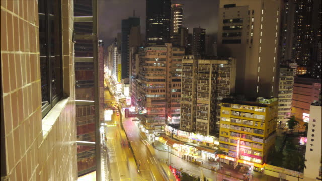 Motion time lapse of Hong Kong road
