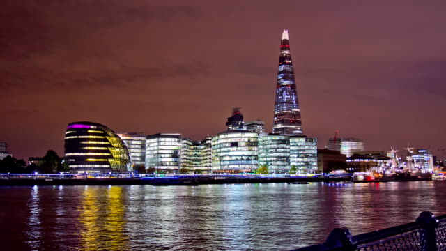 HD Motion Time-Lapse: City Hall And River Thames