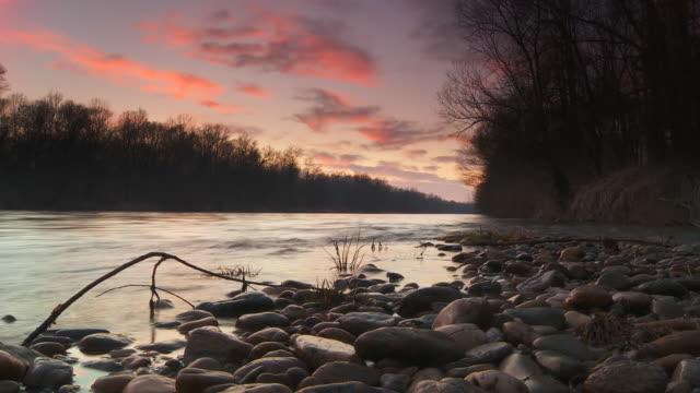 HD Motion Time-Lapse: Cloudscape Over River