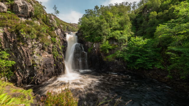 Motion Timelapse of Falls of Kirkaig in the Scottish Highlands
