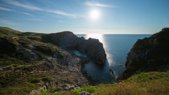 LULWORTH - TL: Motion Timelapse of the Blue moon in Dorset at The Jurassic Coast