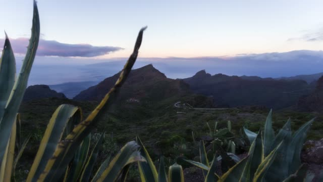 Motion Timelapse of the Masca landscape in Tenerife at sunrise