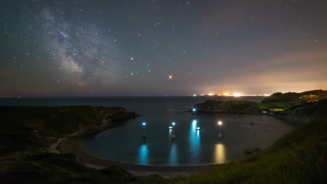 LULWORTH COVE - Motion TimeLapse of the Milky Way on the Jurassic Coast