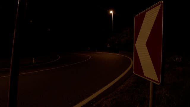 motion-controlled timelapse: traffic on road at night - brennero stock videos and b-roll footage