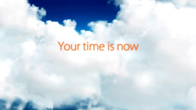 vídeos y material grabado en eventos de stock de palabras de motivación en las nubes - empujar