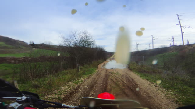 motocross enduro motorbike riding point of view pov - off road car stock videos and b-roll footage