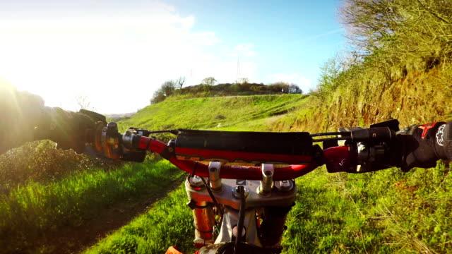 Motocross Motorrad riding point of view