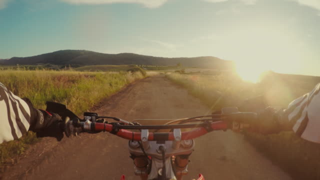Motocross moto équitation point de vue de POV