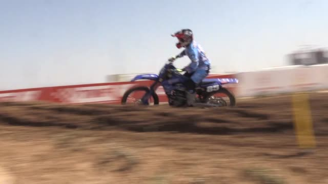 motocross riders compete in the 2019 fim women's motocross world championship at afyon motor sports center in afyonkarahisar turkey on september 08... - world sports championship stock videos & royalty-free footage