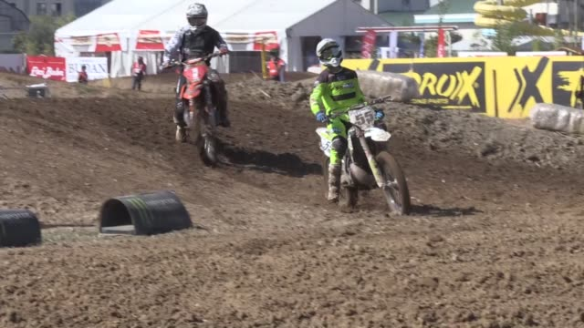 motocross riders compete in the round 17 of the 2019 fim mxgp motocross world championship at afyon motor sports center in afyonkarahisar turkey on... - world sports championship stock videos & royalty-free footage