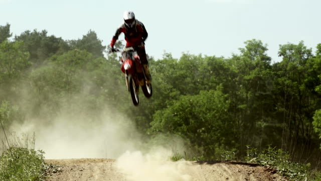 SLO MO Motocross Riders On Track