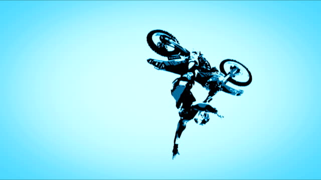 motocross - stunt stock videos & royalty-free footage