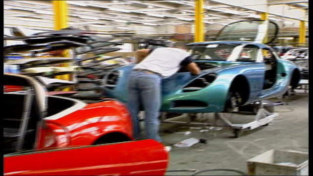 TVR to close Blackpool factory FILE / Date Unknown INT TVR production line