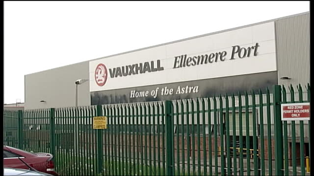 vauxhall job losses at ellesmere port england cheshire ellesmere port vauxhall plant ext general view of vauxhall car factory pan high angle view of... - red tape stock videos & royalty-free footage