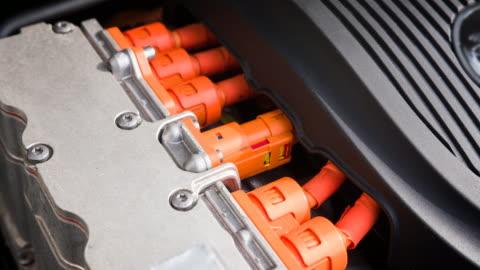motor i en elbil - batteri bildbanksvideor och videomaterial från bakom kulisserna