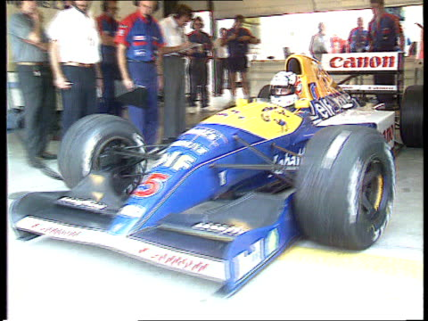 Nigel Mansell HUNGARY Budapest TMS Mansell drives car from garage