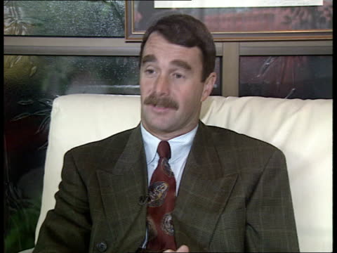 Nigel Mansell INT Dorset Blandford Forum CMS Nigel Mansell intvwd SOF Had 4 results that are history / 12 more races to come EXT