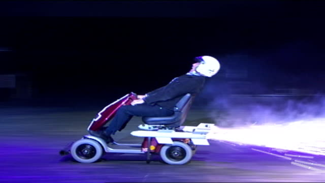 mph '06 motor show opens at earls court england london earls court int montage seq of various motor car stunt vehicles performing during theatre show... - jeremy clarkson stock videos & royalty-free footage