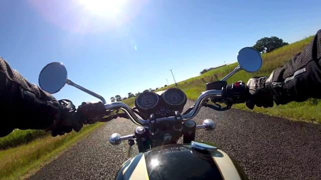 motorbike rider pov - handlebar stock videos & royalty-free footage