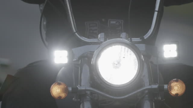 motorcycle headlight, close up - motorcycle biker stock videos & royalty-free footage