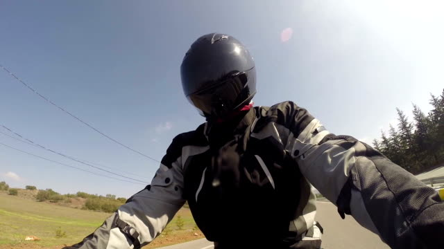 motorcycle ride - helmet motorcycle stock videos and b-roll footage