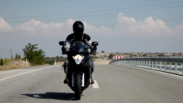 motorcycle ride - motorcycle biker stock videos & royalty-free footage