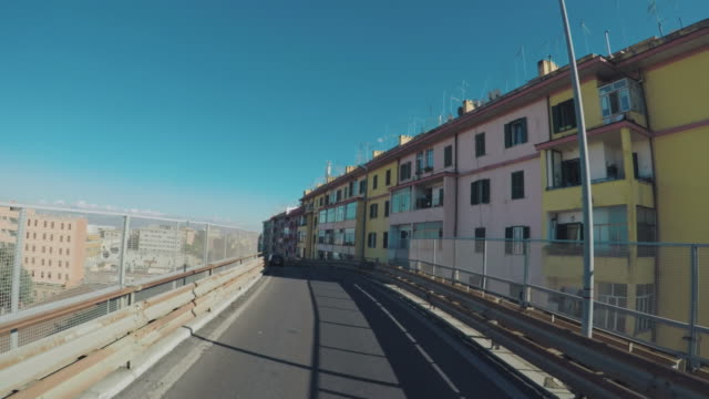 motorcycle riding point of view pov in the city - rome italy stock videos and b-roll footage