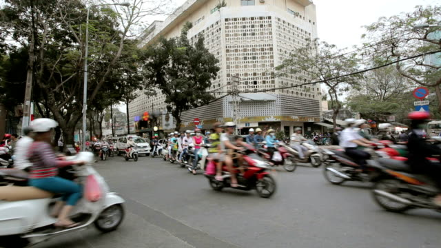 Motorcycle traffic on the street