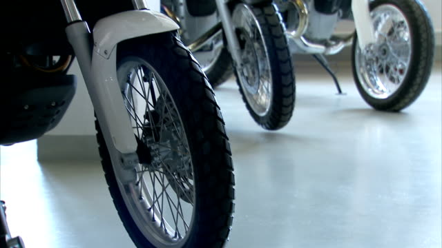 bmw motorcycles in a museum. - bmw stock videos & royalty-free footage