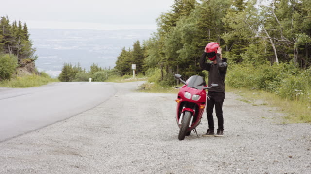 UHD 4K: A motorcyclist out for a ride in the country