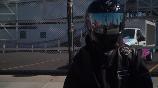 motorcyclists gather near the cyclone roller coaster in coney island to show their support for democratic presidential candidate joe biden and vice... - brooklyn new york stock videos & royalty-free footage