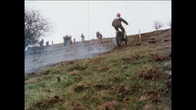 montage motorcyclists riding uphill during practice drill / united kingdom - practice drill stock videos & royalty-free footage