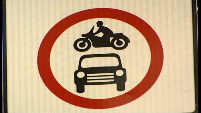 councils making money out of parking fines; close shot road sign for cars and motorbikes detail of cctv camera sign 'no parking' sign - no parking sign stock videos & royalty-free footage