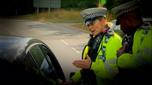 motoring fines set to rise in magistrates' fines increase plan; august 2013 / r16081301 england: northamptonshire: ext graphicised sequence police... - northamptonshire stock-videos und b-roll-filmmaterial