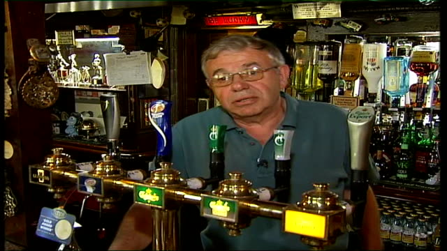 speeding essex villagers given speed guns int vox pop with publican - publican stock videos & royalty-free footage