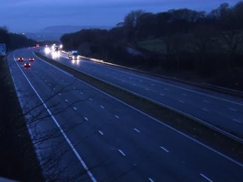 UK Motorway at night 3