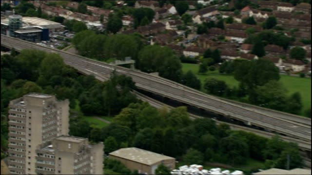 M4 motorway closed for repair work ENGLAND West London VIEW / AERIAL of closed section of M4 motorway