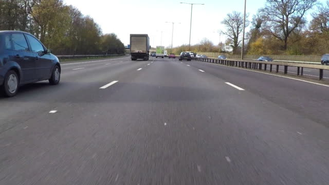 motorway driving pov - car point of view stock videos & royalty-free footage