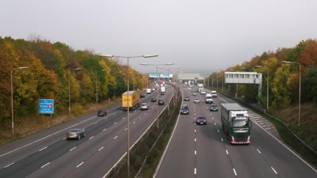motorway east midland airport - motorway stock videos & royalty-free footage